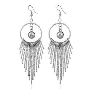 5 for $25 Metal Fringe Dangle Statement Earrings